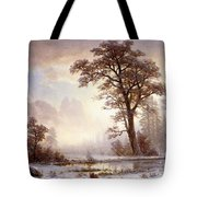 Valley Of The Yosemite Snow Fall Tote Bag