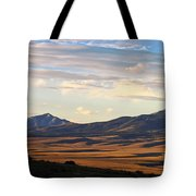 Valley Shadows Snowy Peaks Tote Bag