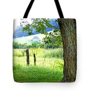 Valley View Along Flat Creek Rd Tote Bag