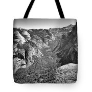 Valley View At Glacier Point Tote Bag