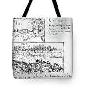 Van Gogh Letter, 1888 Tote Bag