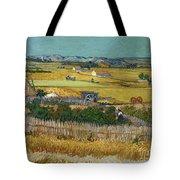 Van Gogh Wheatfield 1888 Tote Bag