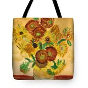 van Gogh's Sunflowers in Watercolor Tote Bag