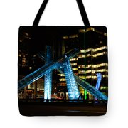 Vancouver - 2010 Olympic Cauldron Lit At Night Tote Bag