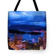 Vancouver At Night Tote Bag