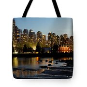 Vancouver Bc City Skyline And Deadman's Island Tote Bag