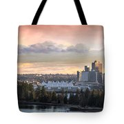 Vancouver Bc City Skyline And Stanley Park Tote Bag