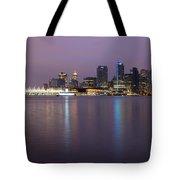 Vancouver Bc City Skyline At Dawn Tote Bag