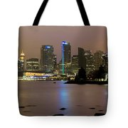 Vancouver Bc City Skyline At Night Tote Bag