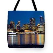 Vancouver Bc City Skyline Reflection Tote Bag