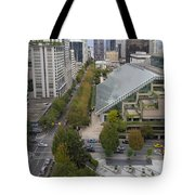 Vancouver Bc Downtown Cityscape View Tote Bag