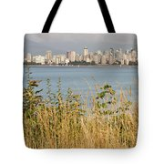 Vancouver Bc Downtown From Hasting Mills Park Tote Bag