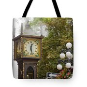 Vancouver Bc Historic Gastown Steam Clock Tote Bag