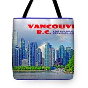 Vancouver Bc Iv Tote Bag