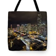 Vancouver Bc Robson Street Cityscape Tote Bag