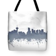 Vancouver British Columbia Skyline - Blue 03 Tote Bag