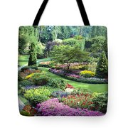 Vancouver Butchart Sunken Gardens Beautiful Flowers No People Panorama Tote Bag