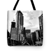 Vancouver Olympic Cauldron- Black And White Photography Tote Bag