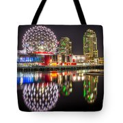 Vancouver Science World In False Creek - By Sabine Edrissi Tote Bag