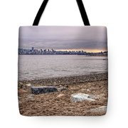 Vancouver Skyline From Jericho Beach Tote Bag