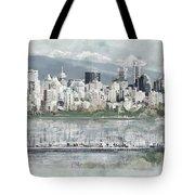 Vancouver Skyline Tote Bag by Maryam Mughal