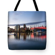 Vancouver Skyline With Bc Place Tote Bag