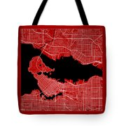 Vancouver Street Map - Vancouver Canada Road Map Art On Color Tote Bag