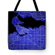 Vancouver Street Map - Vancouver Canada Road Map Art On Colored  Tote Bag