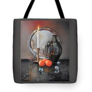 Vanitas Still Life By Candlelight With Clementines 1 Tote Bag