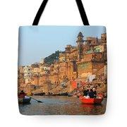 Varanasi From The Ganges River Tote Bag