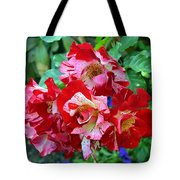 Variegated Multicolored English Roses Tote Bag