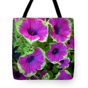 Variegated Petunias Tote Bag