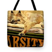 Varsity Blanket Tote Bag by Molly Poole