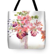 Vase Of Dried Flowers Tote Bag