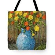 Vase Of Marigolds Tote Bag