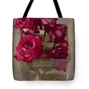 Vase Of Roses Tote Bag