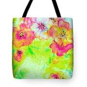Vase Of Spring Flowers Tote Bag