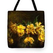Vase Of Yellow Tulips Tote Bag