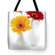 Vases With Gerbera Flowers Tote Bag by Elena Elisseeva