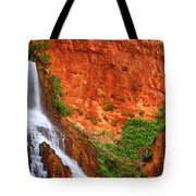 Vaseys Paradise Twin Falls Tote Bag by Inge Johnsson