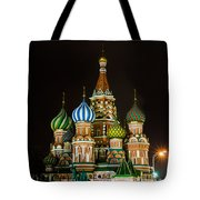 Vasily The Blessed Cathedral At Night - Featured 3 Tote Bag