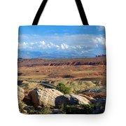 Vast Desert Landscape Tote Bag