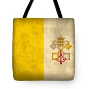 Vatican City Flag Vintage Distressed Finish Tote Bag