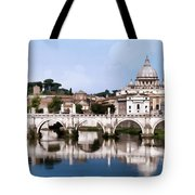 Vatican City Seen From Tiber River Tote Bag