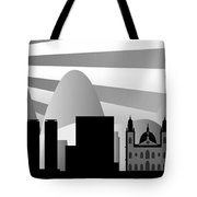 vector Rio skyline with ball Tote Bag