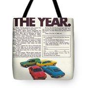 Vega - Car Of The Year 1971 Tote Bag