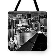 Vegas Black And White Tote Bag