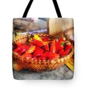 Vegetables - Hot Peppers In Farmers Market Tote Bag