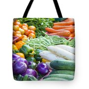 Vegetables Stand In Wet Market Tote Bag