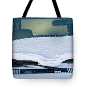 Vehicle Windshield Fresh Snow Thawing Tote Bag